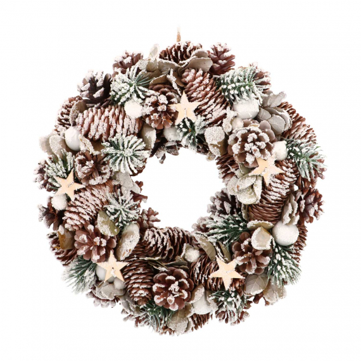 Weihnachtskranz mit Sternen, 34 cm