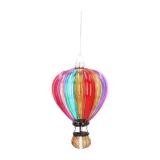 Anhänger Heißluftballon, bunt, Glas, 12,5 cm