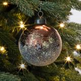 Besondere Weihnachtskugel Arktis, braun, Glas, 8 cm