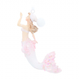 Anhänger Stilvolle Meerjungfrau, rosa, Polyresin, 13 cm