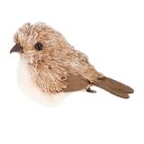 Deko Vogel, natur, Kunststoff, 10 cm