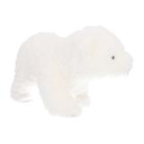 Laufender Eisbär, weiß, Stoff, 15 cm