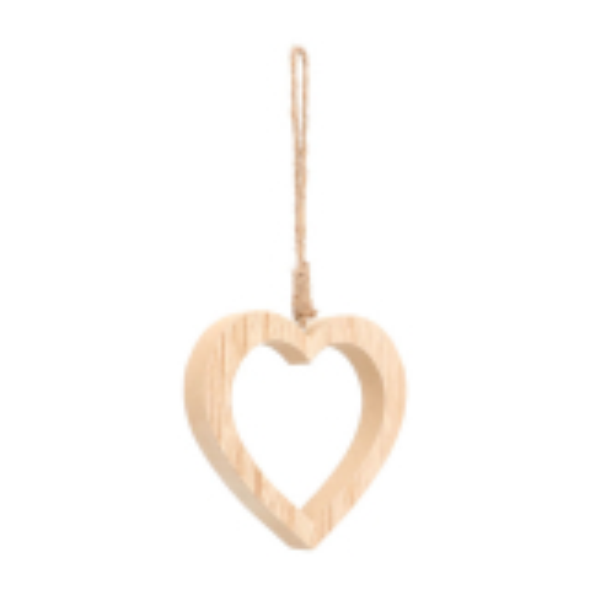 Anhänger Holz-Herz offen natur, 12,5 cm