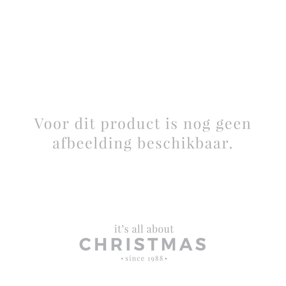 Besondere Weihnachtskugel Krakelee mit Blume, rot, Glas, 8 cm