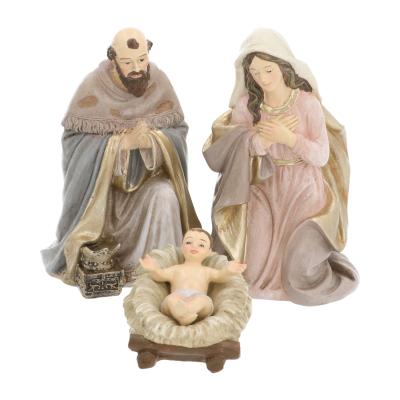 Luxuriöses Krippenfiguren Set 11-teilig, Polyresin, 20 cm