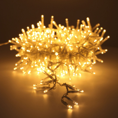 Cluster-Lichterkette transparent extra warm-weiß, 560 LEDs