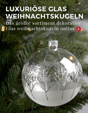 luxuriöse glas weihnachtskugeln